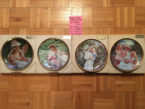 Sandra Kuck Collector Mother's Day Plates (Set of 4)