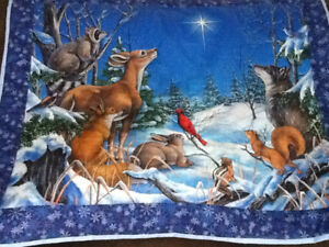 Winter wonderland wallhanging hand quilted.