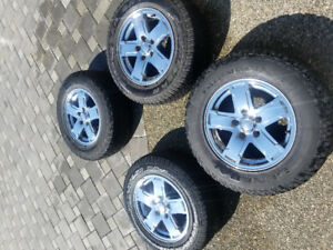 4 used 5.7L, 2005 Jeep Grand Cherokee Ltd. Chrome rims & tires