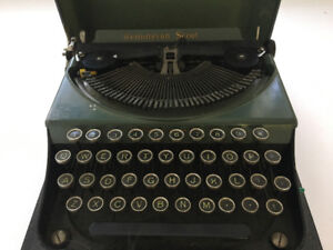 1930s Vintage Antique Remington Scout Typewriter