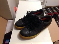 Size 9 Nike sb black leather with gum sole