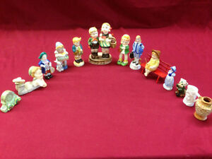 OCCUPY JAPAN FIGURINES AND 3 PLATES
