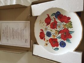 Collection of China plates Wedgewood Royal Albert etc .