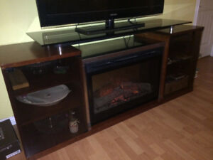 Ashley entertainment stand with Dimplex electric heater