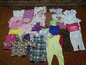 31 PCS OF BABY GIRL CLOTHES: 24,18 AND 9 MONTHS