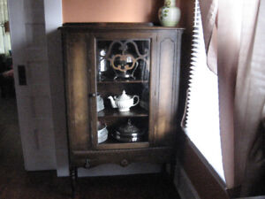 antique china cabinet  storage or display