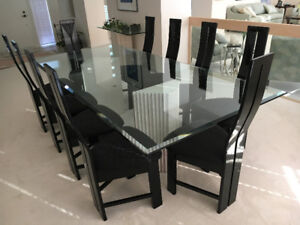 Rare Modern Dining Room Suite With 12 Chairs