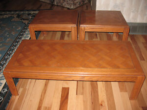 TWO END TABLES & COFFEE TABLE