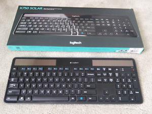 Logitech solar powered wireless keyboard