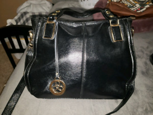Large black leather purse perfect condition