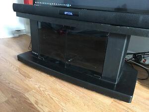 Meuble Tv sur roulette avec vitres aimentées