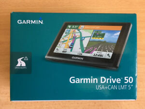"Garmin Drive 50LMT 5"" GPS Lifetime Traffic and Canada/ USA Maps."