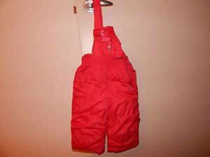 """""""Joe""""Red snow pants ,for girls & boys for 1 year toddler"""