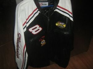 2XL Budweiser Dale Jr Leather Jacket