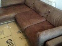 Brown corner sofa collection from Fenstanton