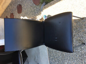 Free kitchen chair black fake leather