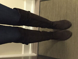 Browns suede knee high boots