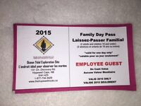 Family day pass to Hopewell Rocks