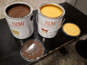 2 gallons of paint. Chocolate and butternut
