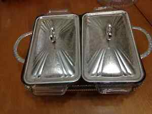 Silver plated casserole. Two dishes $25.00