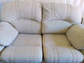 2 matching sofas lovely condition, very comfortable