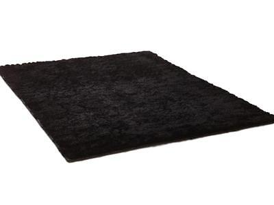 Teppich Shaggy 160x230 Läufer Fußmatte Flokati Langflor Hochflor Weich Schwarz
