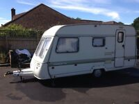 4 berth Caravan with awning, Swift Corvette