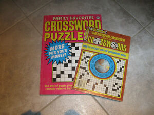 Two CROSSWORD PUZZLE BOOKS...