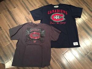 Montreal Canadiens t-shirts - men's L and XL