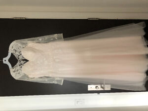 Wedding gown and chapel veil for sale