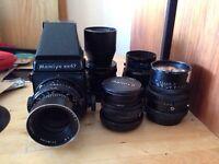Mamiya RB67 + 5 lenses