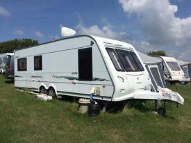2006 twin axle 6 birth caravan