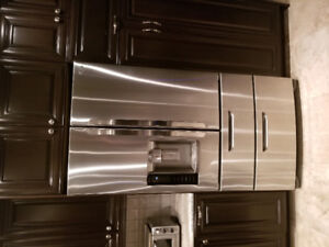LG 36 INCH COUNTER DEPTH 5 YR OLD WITH EXTENDED WARRANTY