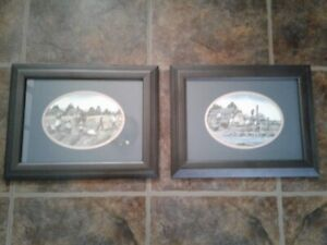 2 Glass Framed Pictures