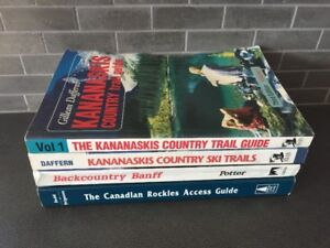 Set of 4 Canadian Rockies Books - for hiking and skiing