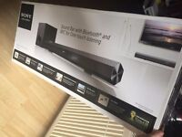sony sound bar Bluetooth, and NFC streaming.