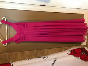 Bridesmaid Dress, Fuchsia, Size 4