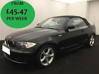 £195.50 PER MONTH BMW 118i 2.0 2010 SPORT CONVERTIBLE 2 DOOR PETROL CONVERTIBLE