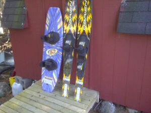 Gently used Wake board and water skis