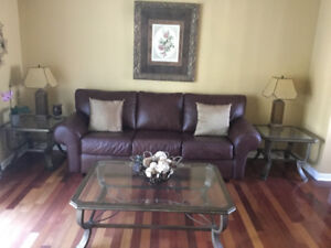 Coffee table and two matching end tables