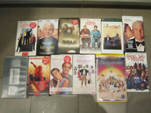 Lot of 12 VHS films - Great classic family viewing teens/kids