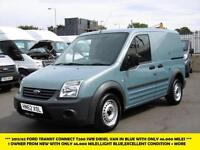2012 FORD TRANSIT CONNECT T200 SWB DIESEL VAN IN LIGHT BLUE WITH ONLY 46.000 MIL
