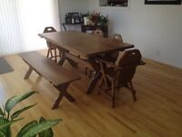 1962 solid ash Canadian made dining room set