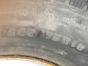 Michelin tires with steel rims