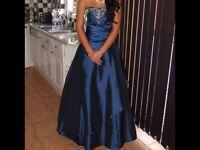 Stunning blue prom dress