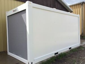 STRONG-STOR mobile storage units ~ steel frame w. roll up door
