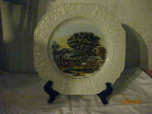 3 Courier & Ives Collector Plates