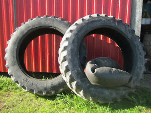 Two 15.5 X 38 Used Radial Tires