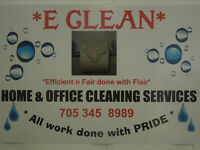 E CLEAN home and office cleaning services in ORILLIA
