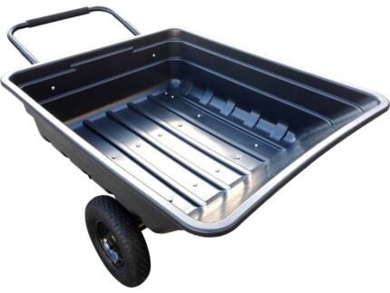 140L ride on mower tip trailer  wheelbarrow 10cu/ft poly tray Miller Liverpool Area Preview